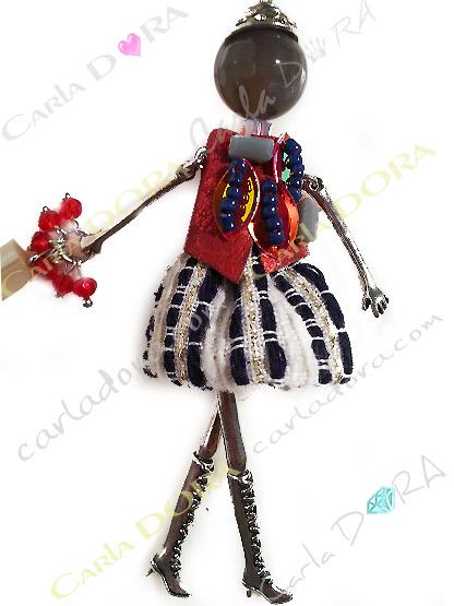 collier sautoir poupee fantaisie tendance, collier tendance fantaisie femme