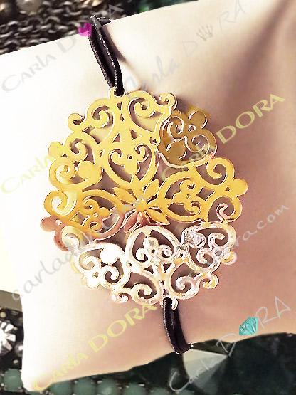 bracelet arabesque doree bijoux fantaisie femme
