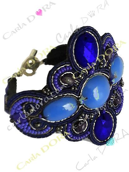 bracelet bresilien hippie chic bleu et gris