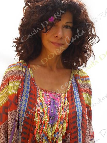 tunique voile transparent multicolore, top femme tunique plage a la mode