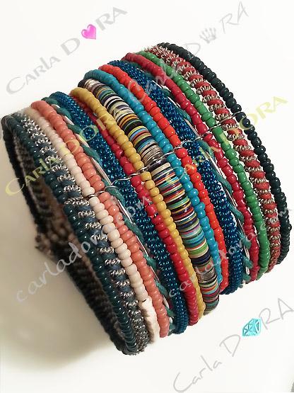bracelet manchette femme hippie chic multicolore, bracelet tendance femme