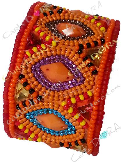 bracelet bresilien corail fantaisie femme hippie chic, bracelet fantaisie femme