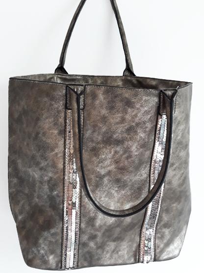 sac cabas metalise or vieilli et paillettes sac shopping porte epaule pour shopping sac a main porte main