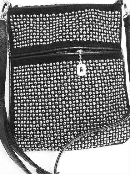 sac a main noir cloute argent tendance, sac main mode