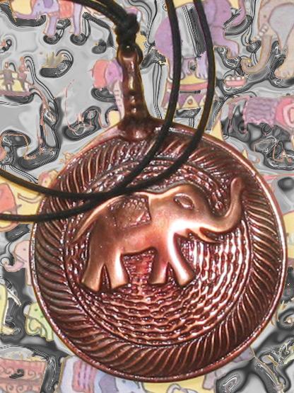 bijoux fantaisie femme collier elephant cuivre