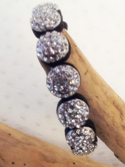 bracelet femme style shamballa strass argent bracelet mode femme