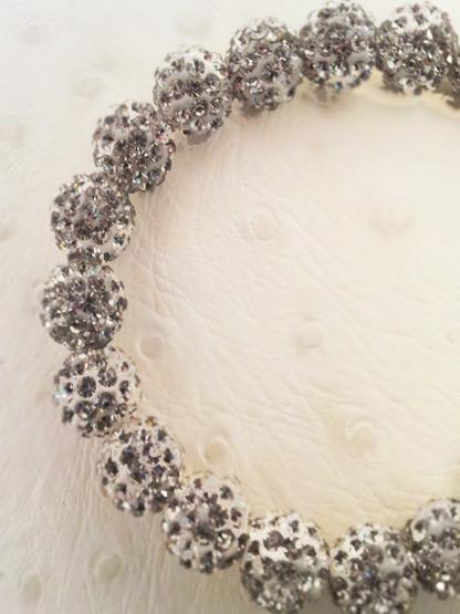 bracelet shamballa boules strass