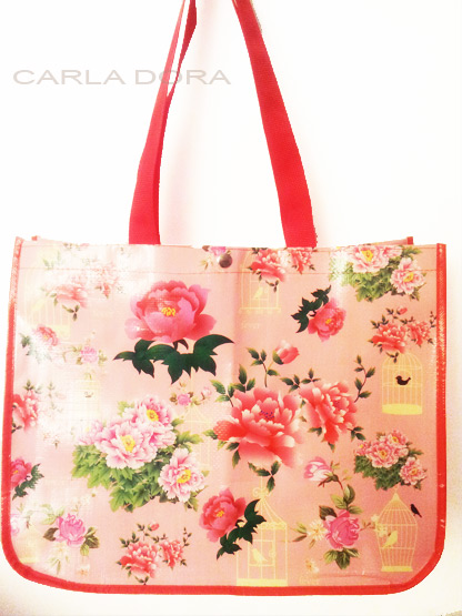 sac shopping cabas fleur, sac course pliable femme imprime fleurs, sac a main shopping femme a la mode