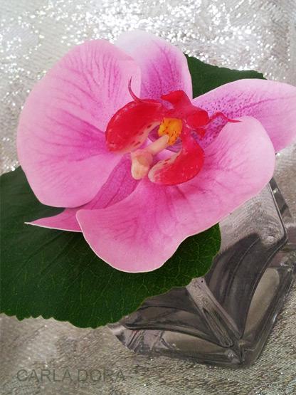 orchidee artificielle rose effet eau naturel decoration table