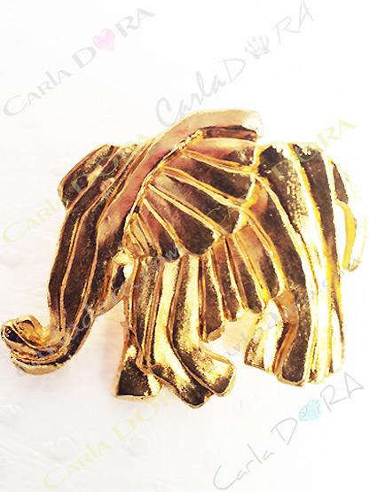 broche elephant metal dore bijoux fantaisie femme