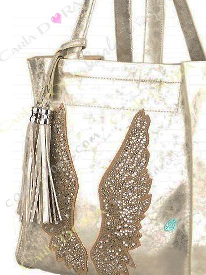 sac femme porte epaule couleur or ailes d