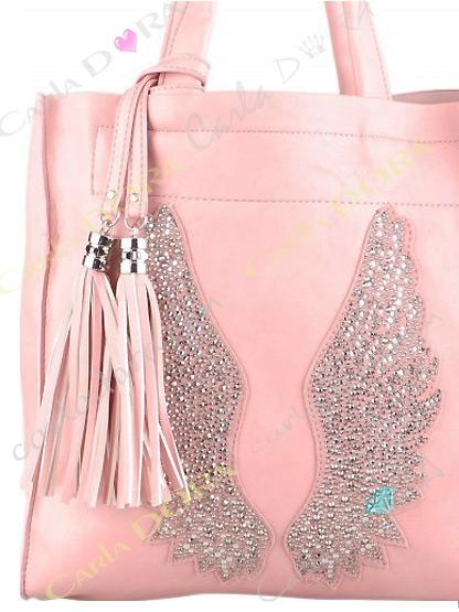 sac a main rose ailes d