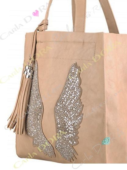 sac main femme couleur taupe aile d