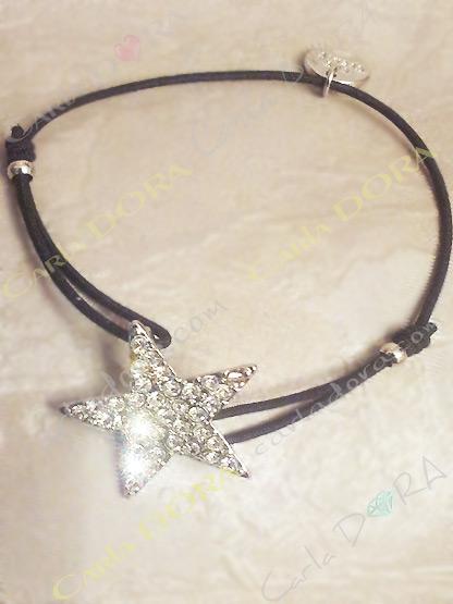 bijoux fantaisie bracelet etoile strass, bracelet fantaisie femme