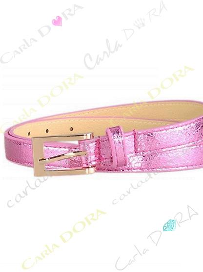 ceinture mode femme aspect cuir rose metalise, ceinture femme a boucle tendance