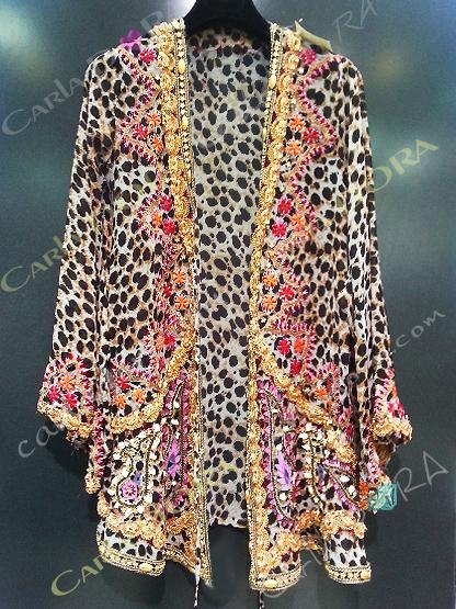 veste longue femme brodee fleurs voile panthere veste femme ethnique de soiree glamour motif panthere leopard