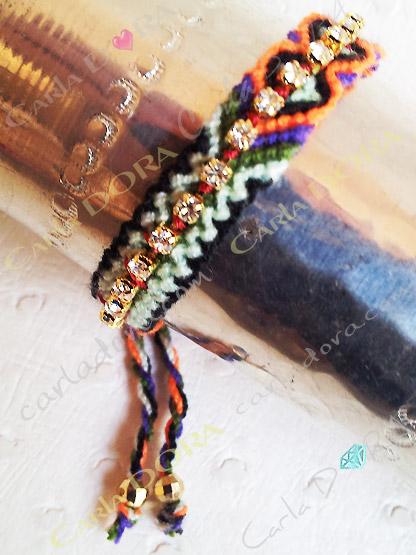 bracelet fantaisie femme hippy chic strass, bijou fantaisie bracelet bresilien tendance