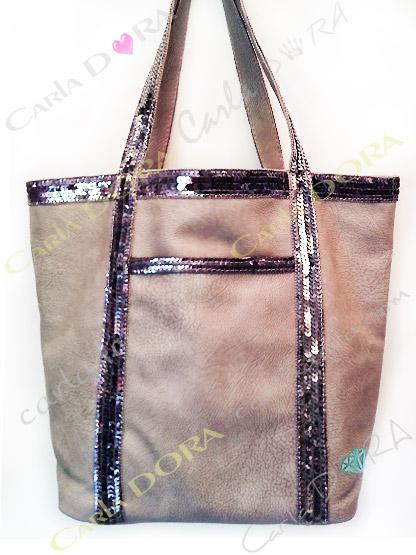 sac cabas paillettes sac shopping porte epaule gris pour shopping sac a main porte main