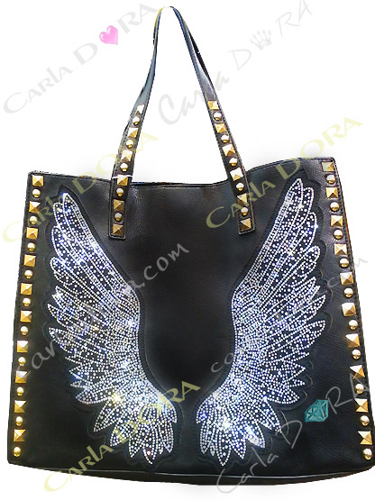 sac a main noir aile d