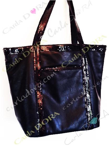 sac main femme cabas paillettes noir 2 en 1 shopping porte epaule noir sac a main noir