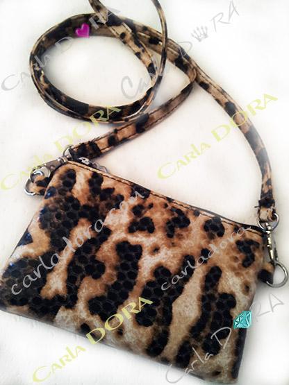 mini sac bandouliere panthere pour telephone, mini sac pochette telephone portable